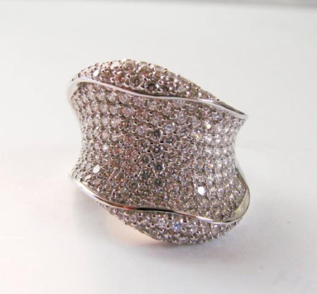Creation Diamond Ring 3.00Ct 18k W/g Overlay