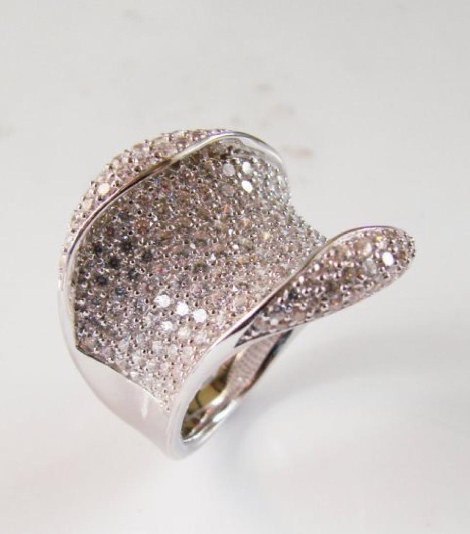 Creation Diamond Ring 3.00Ct 18k W/g Overlay - 2