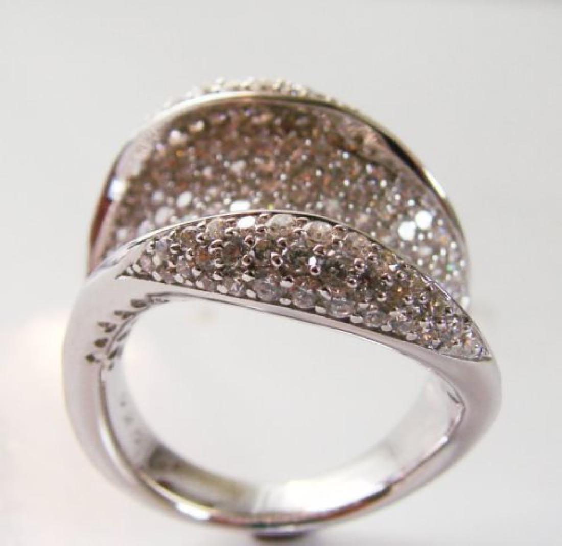 Creation Diamond Ring 3.00Ct 18k W/g Overlay - 3