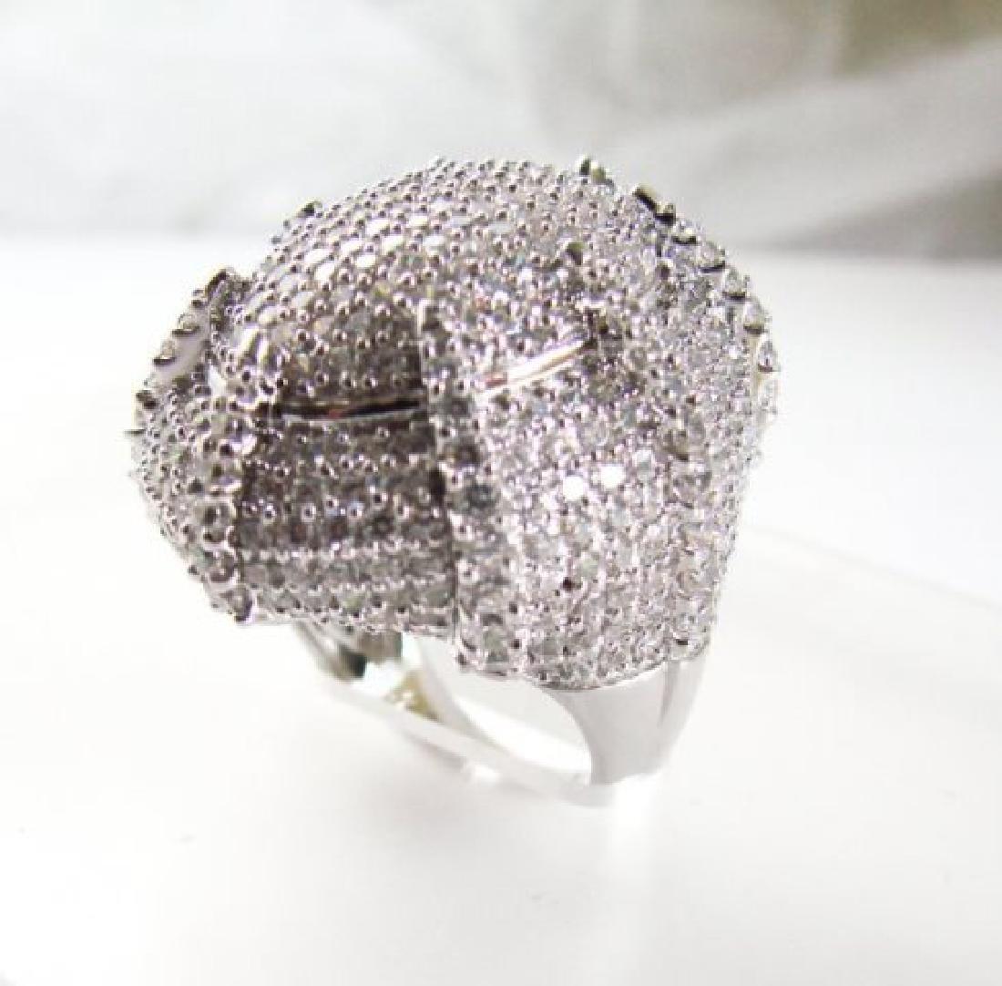 Creation Diamond Ring 9.30Ct 18k W/g Overlay