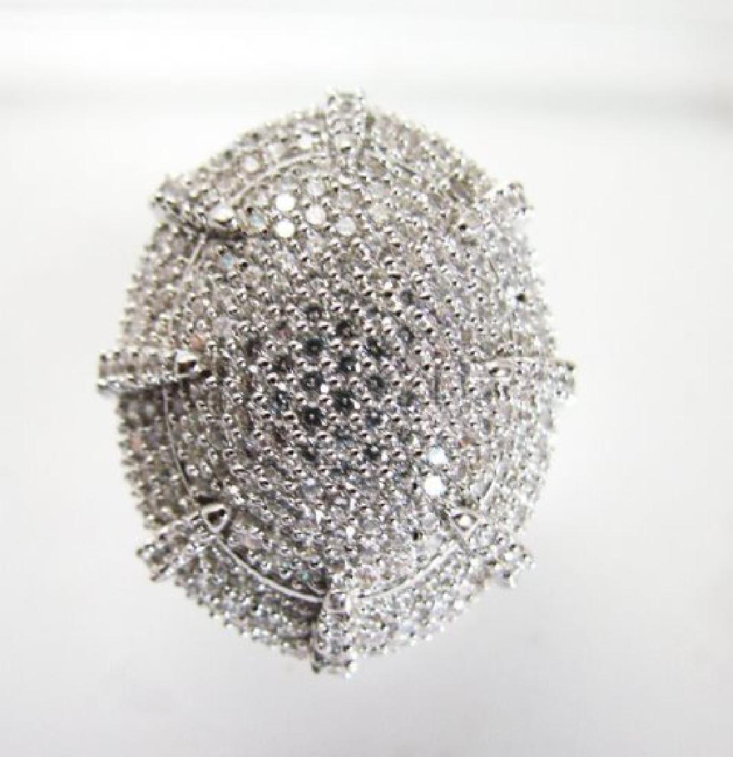 Creation Diamond Ring 9.30Ct 18k W/g Overlay - 2
