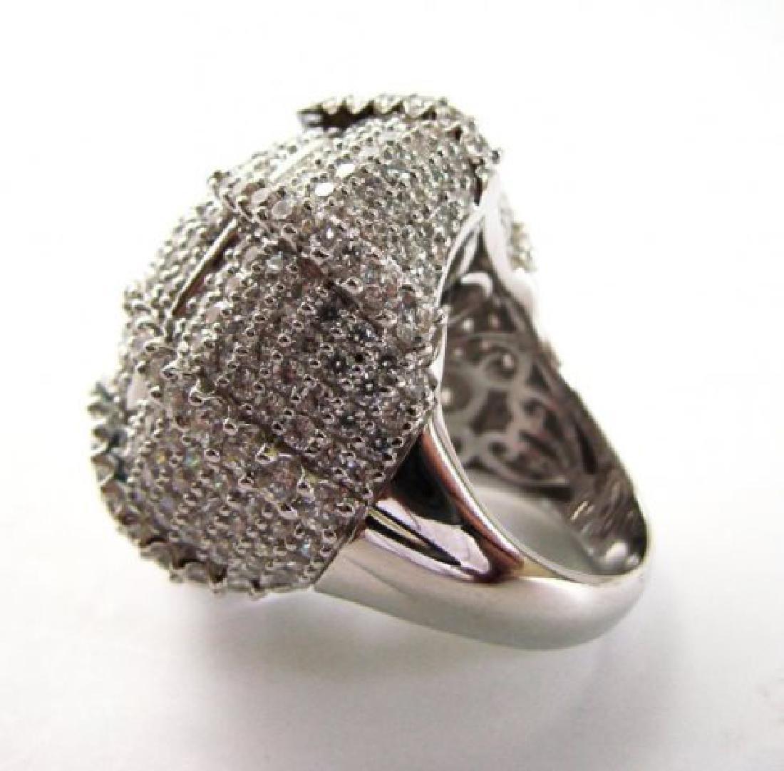 Creation Diamond Ring 9.30Ct 18k W/g Overlay - 3