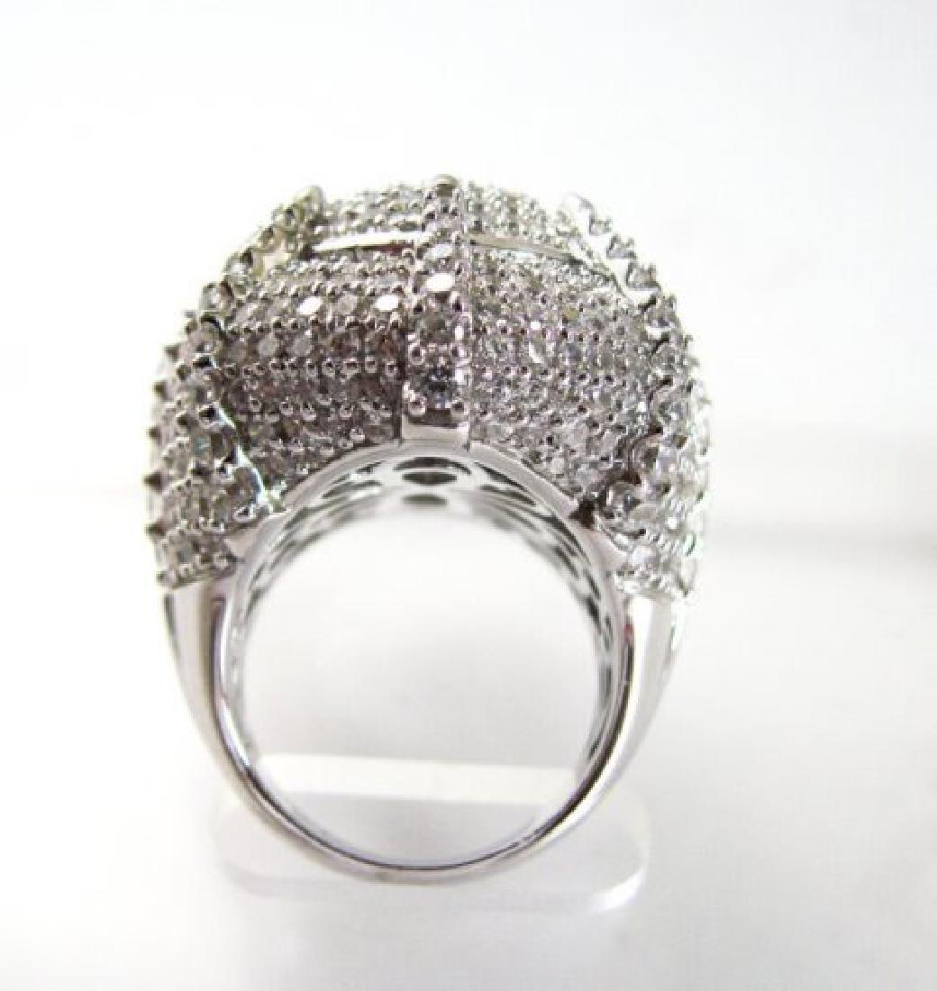 Creation Diamond Ring 9.30Ct 18k W/g Overlay - 4