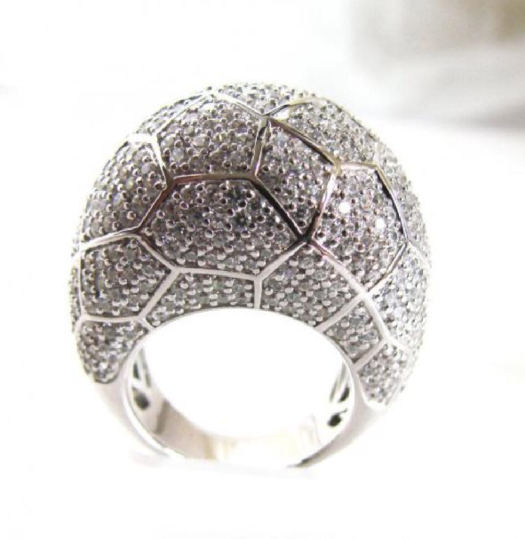 Creation Diamond Ring 7.20Ct 18k W/g Overlay