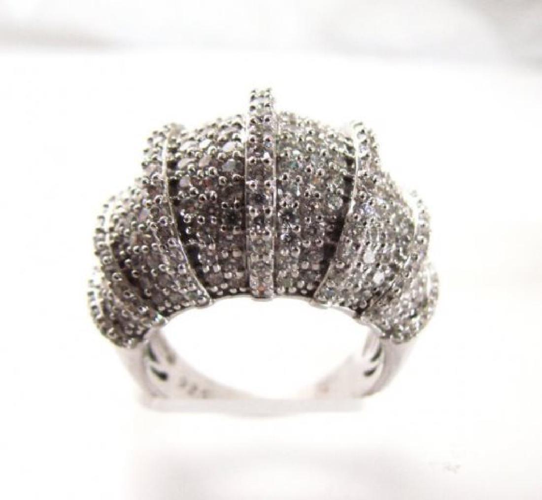 Creation Diamond Ring 8.45Ct 18k W/g Overlay