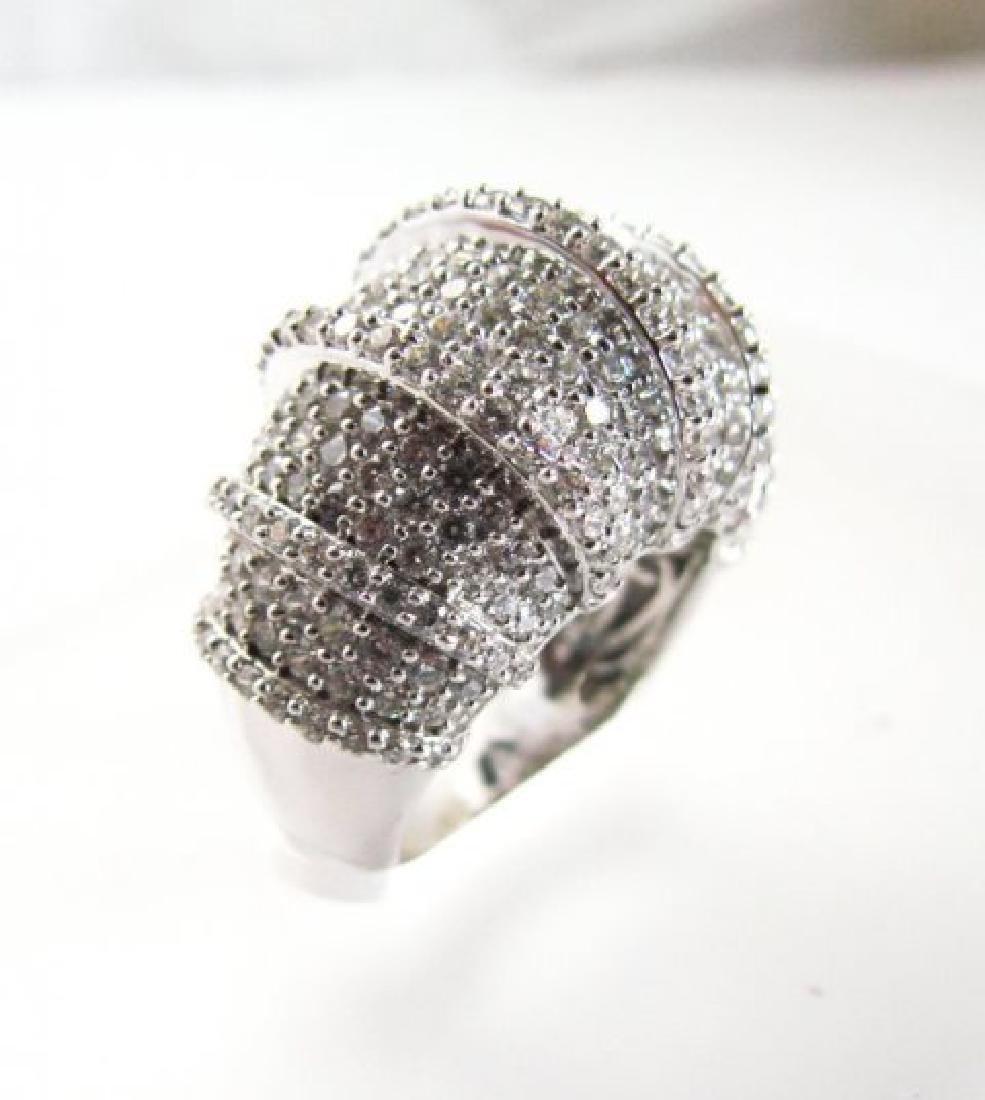 Creation Diamond Ring 8.45Ct 18k W/g Overlay - 2
