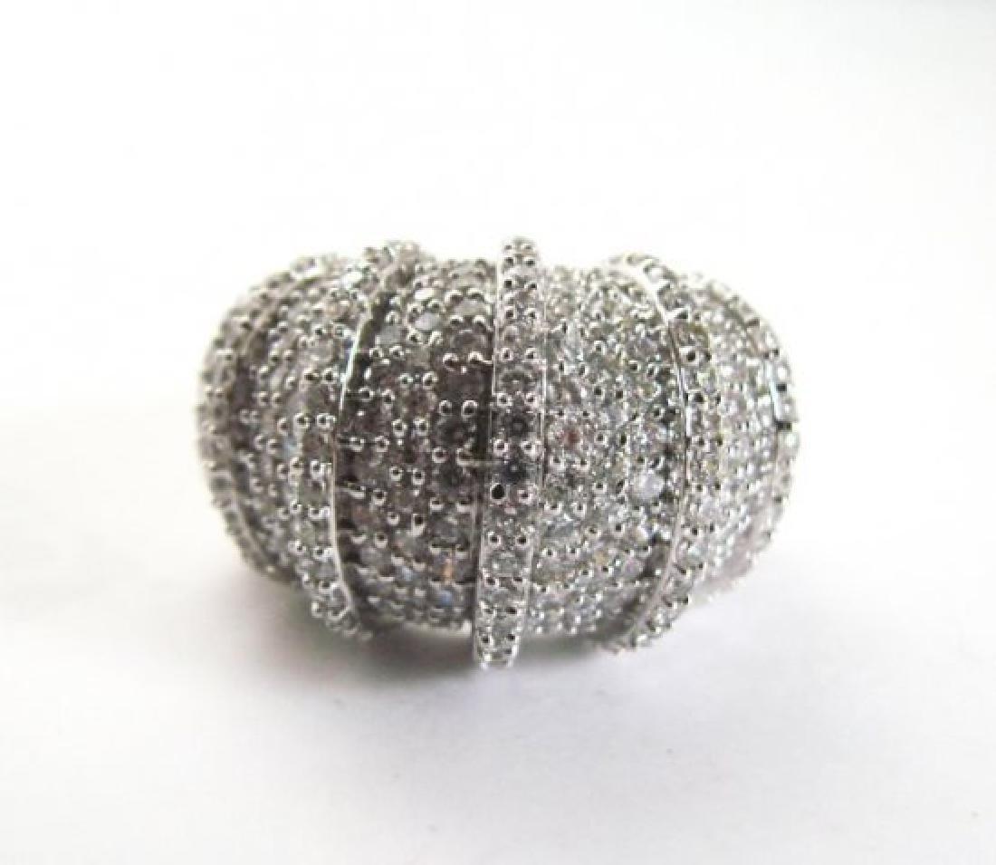 Creation Diamond Ring 8.45Ct 18k W/g Overlay - 3