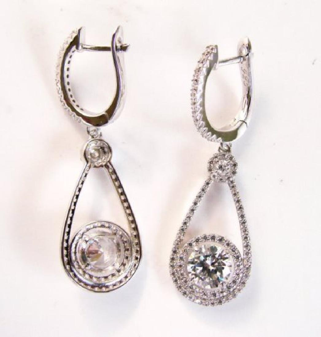 Creation Diamond  Earrings 3.94Ct 18k W/g Overlay