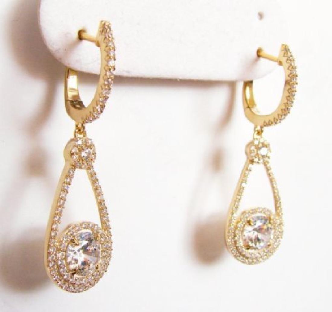 Creation Diamond Earrings 3.94Ct 18kY/g Overlay - 3