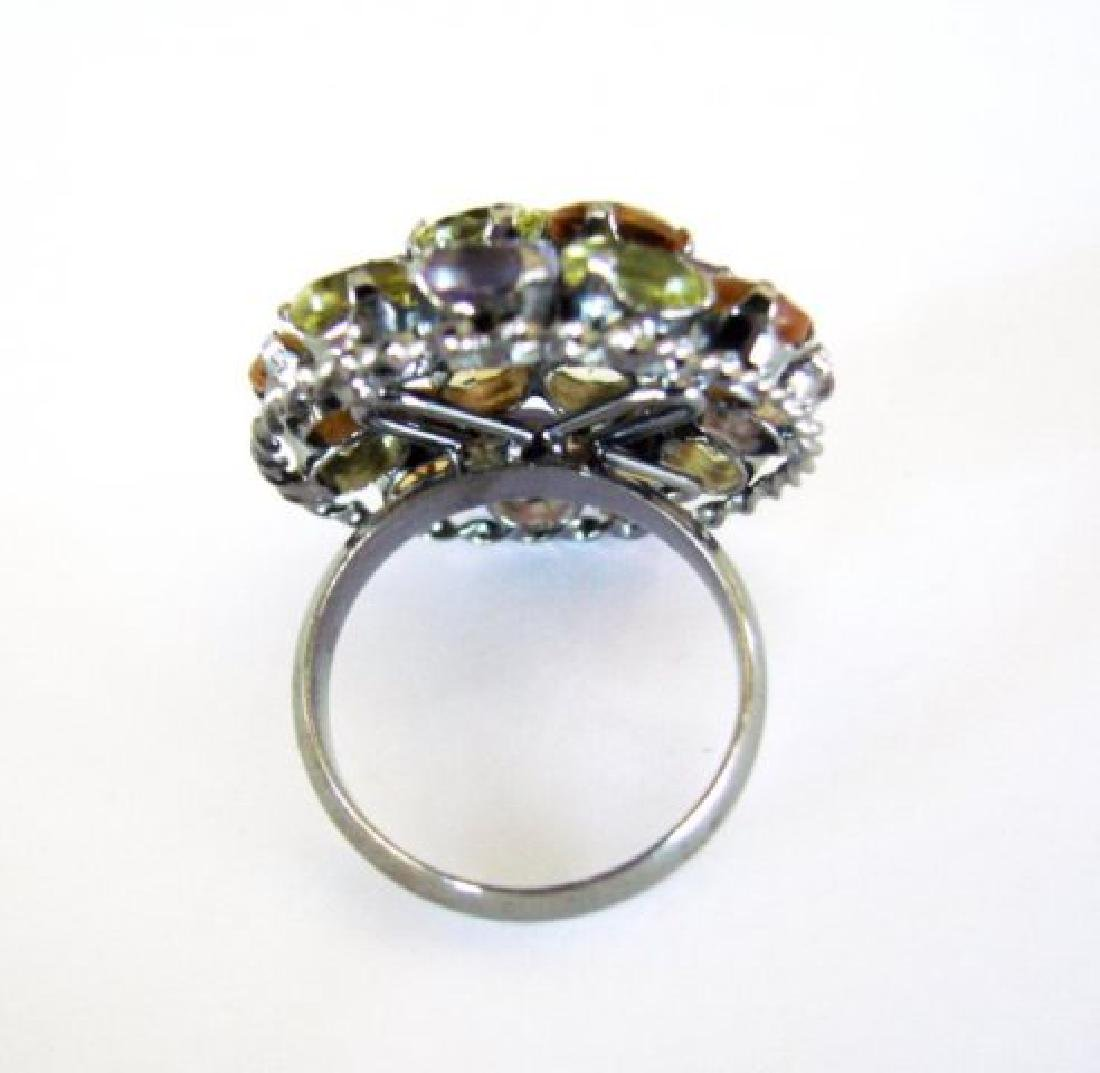 Multicolor Stone Ring 23.40Ct 18k B/g Overlay - 4