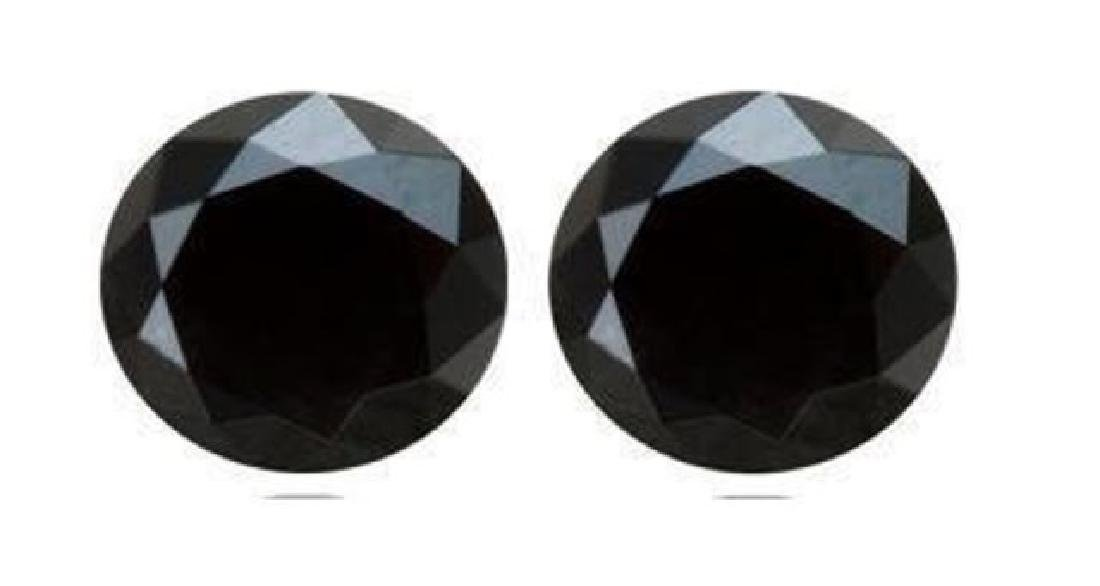 Black Diamond Round Facet 1.68Ct Size:6.3x3.8 mm