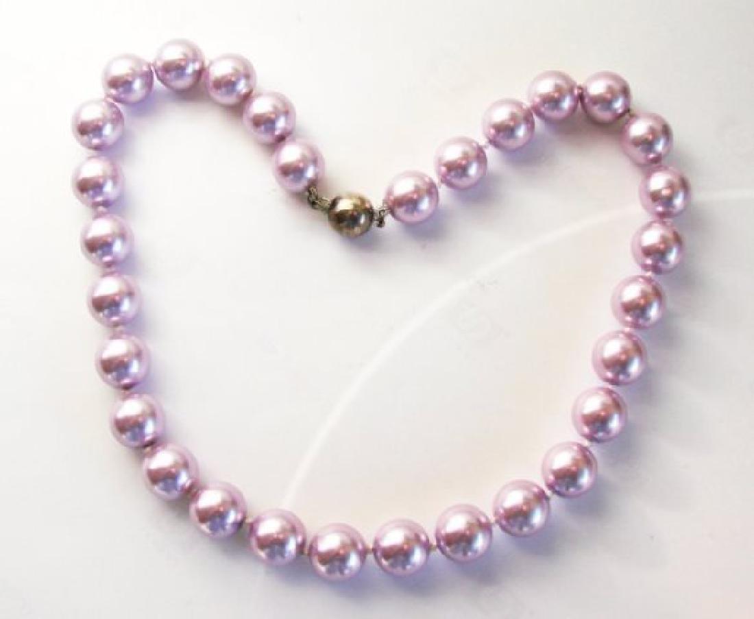"""Necklace Swarovski Crystal Pearl 13mm SZ 16"""" - 2"""