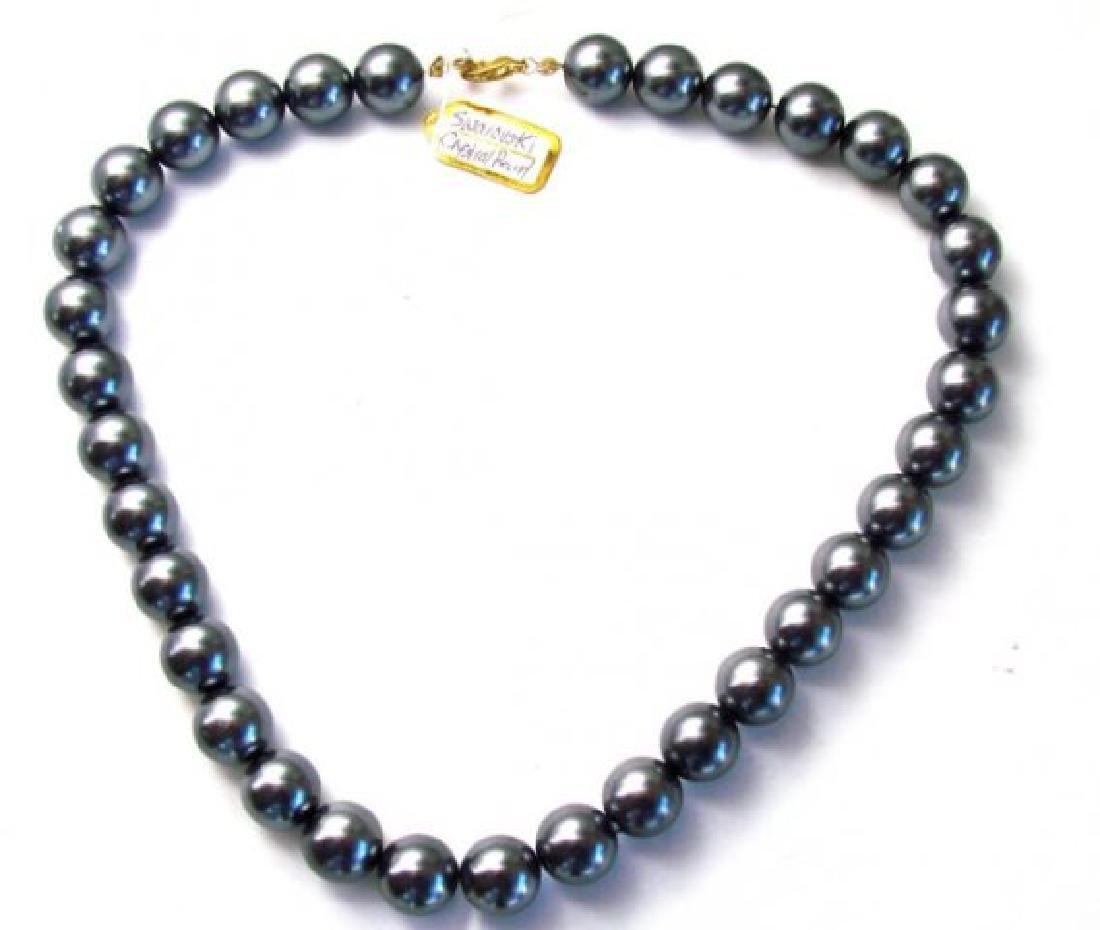 """Necklace Swarovski Crystal Pearl 13mm SZ 16"""""""