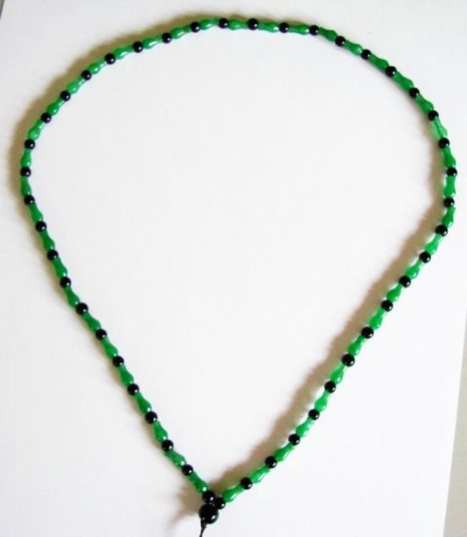 Natural Jadeite Jade & Agate Necklace - 3