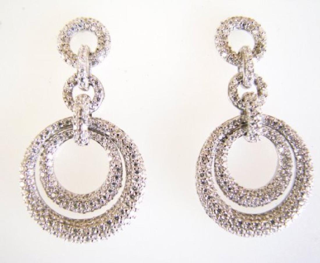 Creation Diamond Earring 4.12Ct 18k W/g Overlay