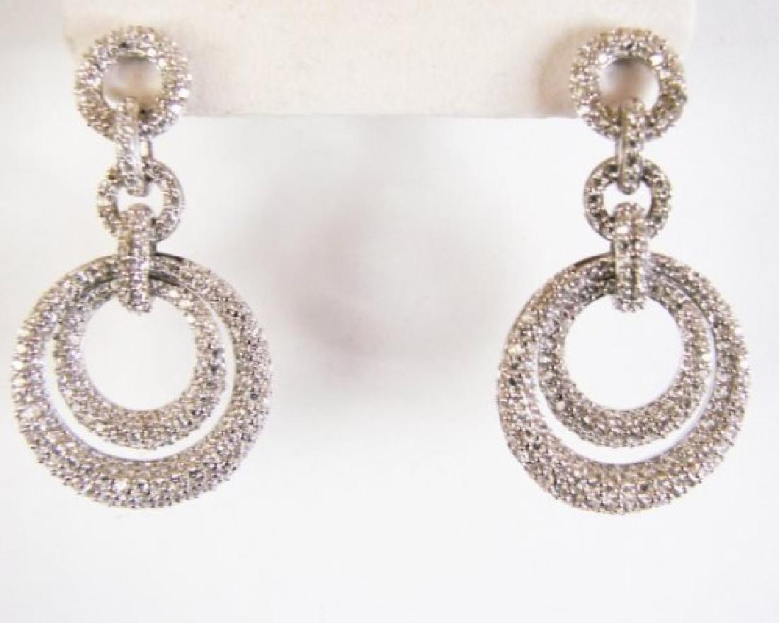 Creation Diamond Earring 4.12Ct 18k W/g Overlay - 2