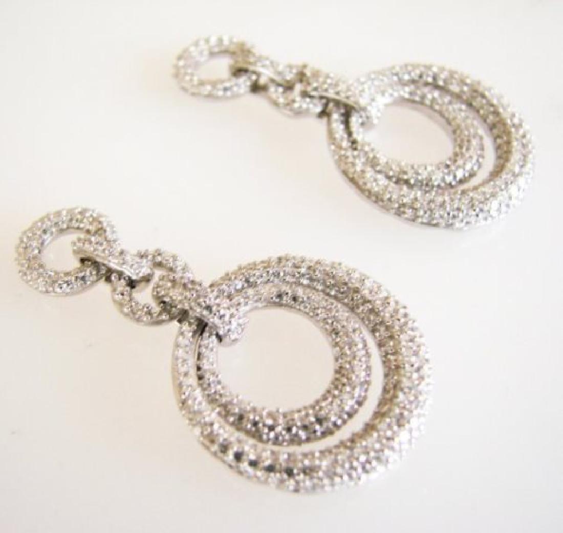 Creation Diamond Earring 4.12Ct 18k W/g Overlay - 3