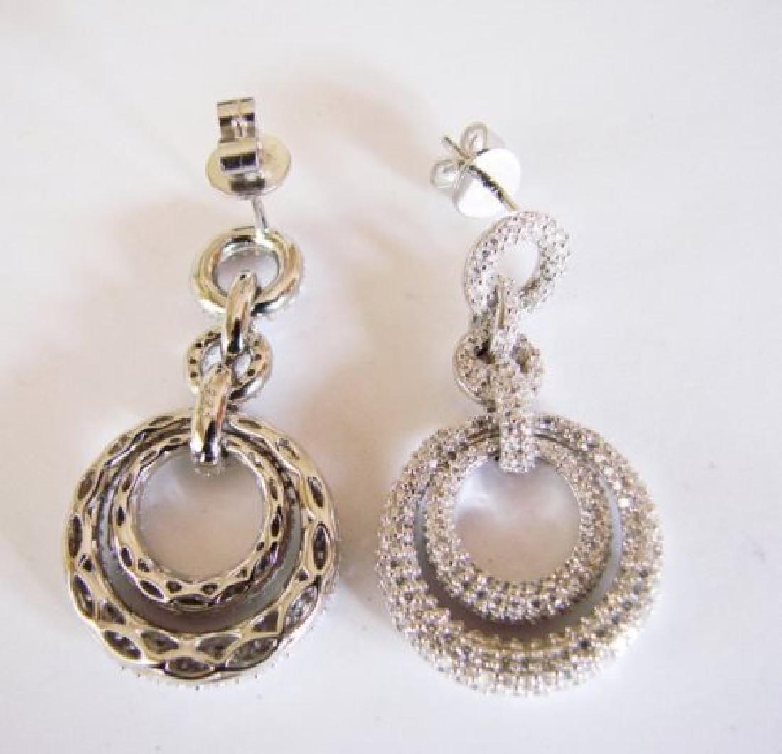 Creation Diamond Earring 4.12Ct 18k W/g Overlay - 4