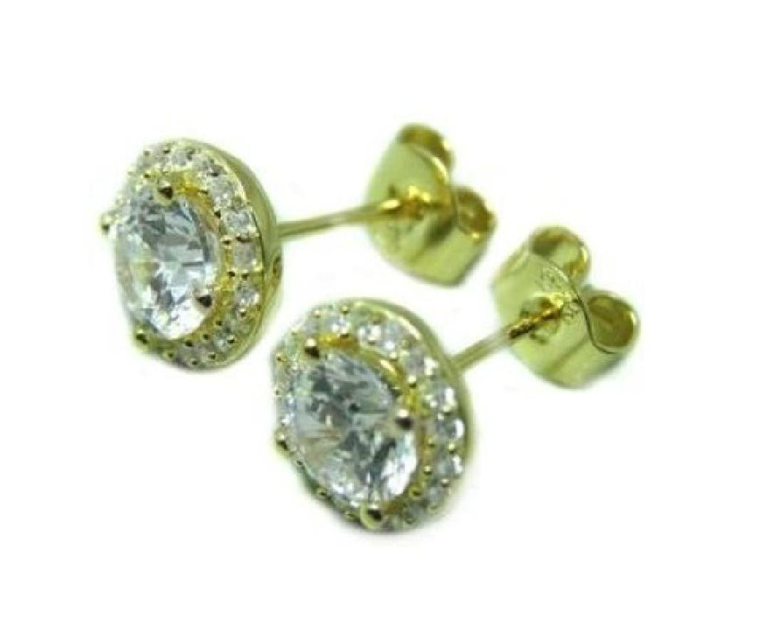 Creation Diamond Stud Earring 2.40Ct 18k Y/g Over - 2
