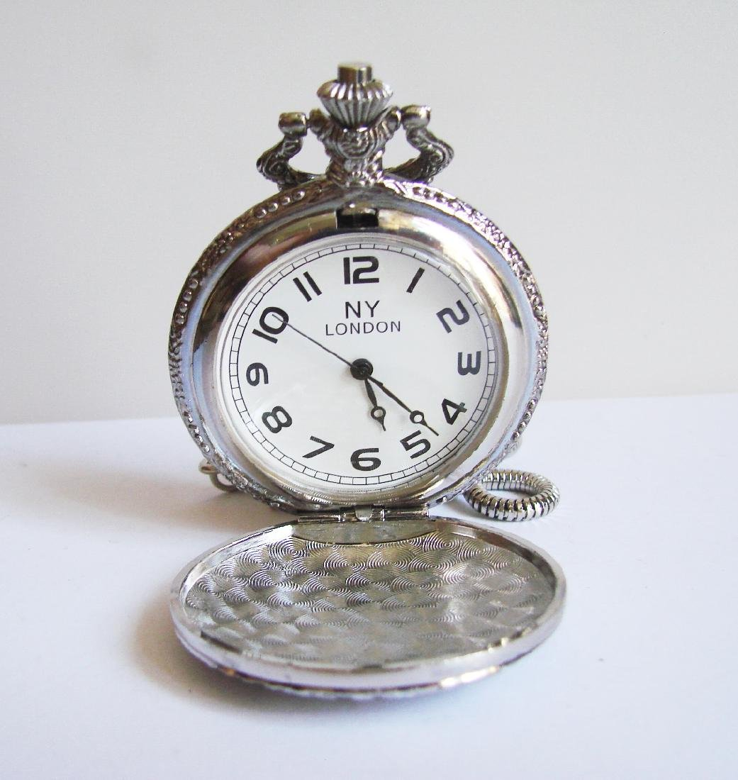 Pocket Watch NY LONDON 18k Y/g Overlay