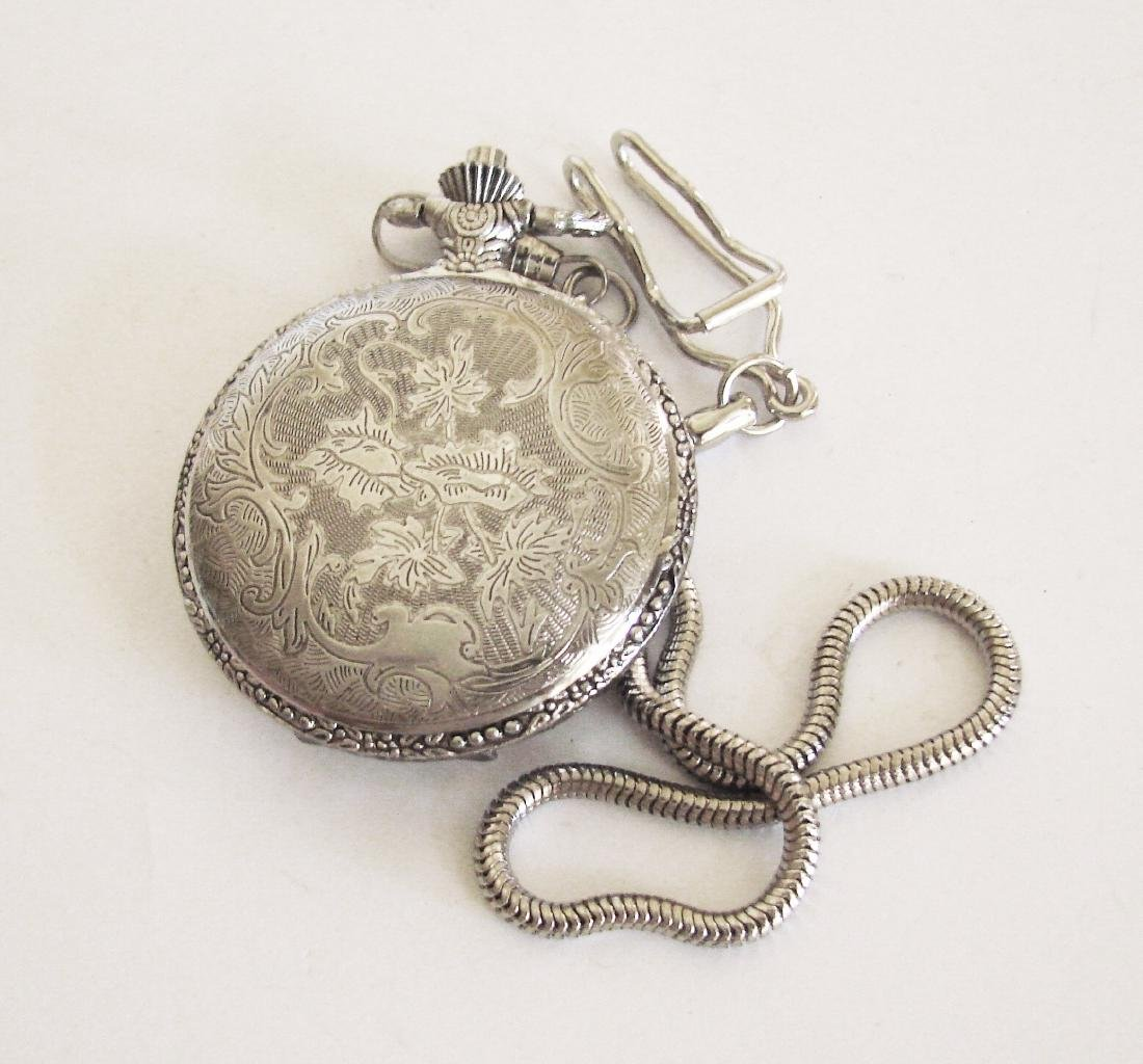 Pocket Watch NY LONDON 18k W/g Overlay - 3