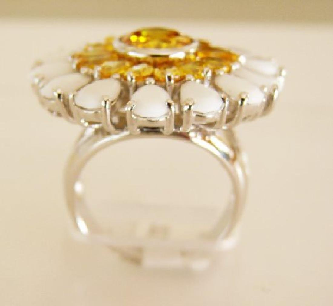 Creation Diamonds Ring 4.70ct 18k W-Y/g Overlay - 2