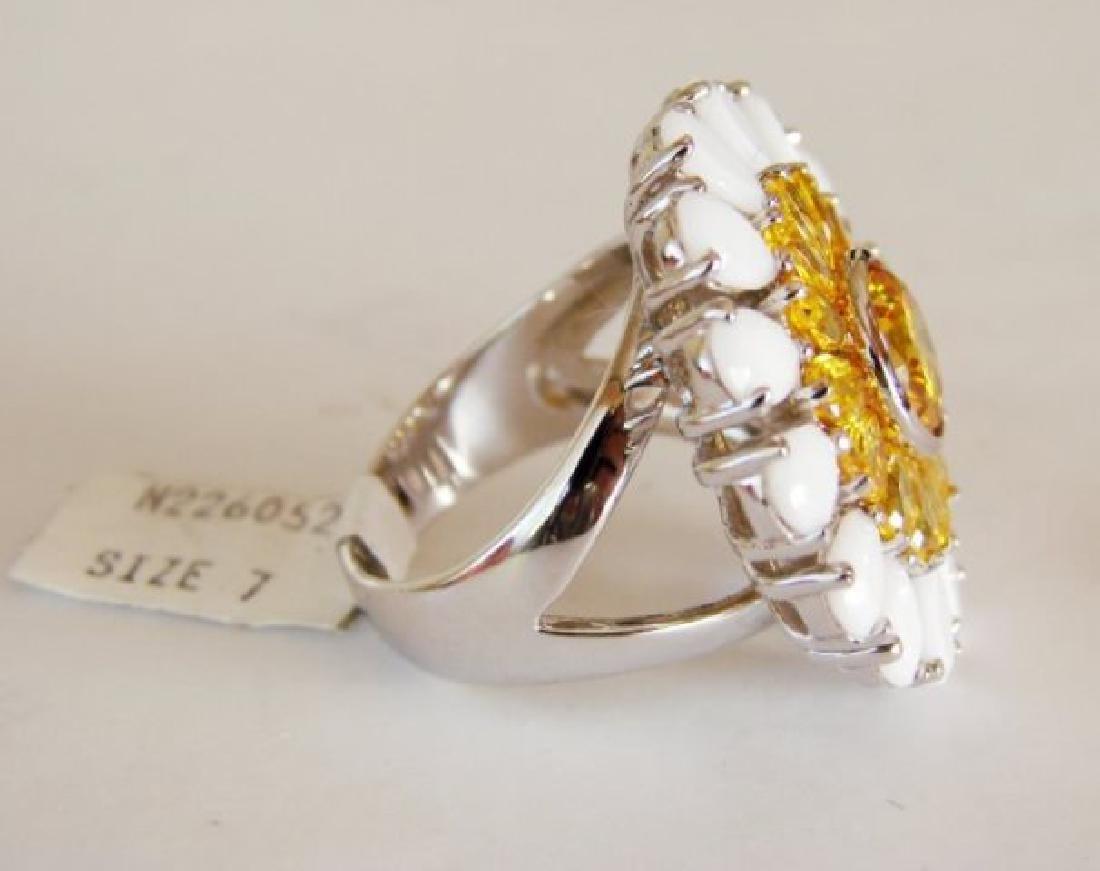 Creation Diamonds Ring 4.70ct 18k W-Y/g Overlay - 3
