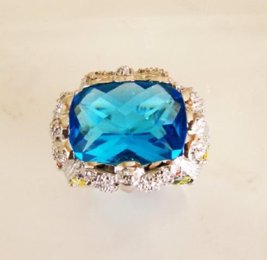 Creation Diamonds Ring 9.30Ct 18k W/g Overlay