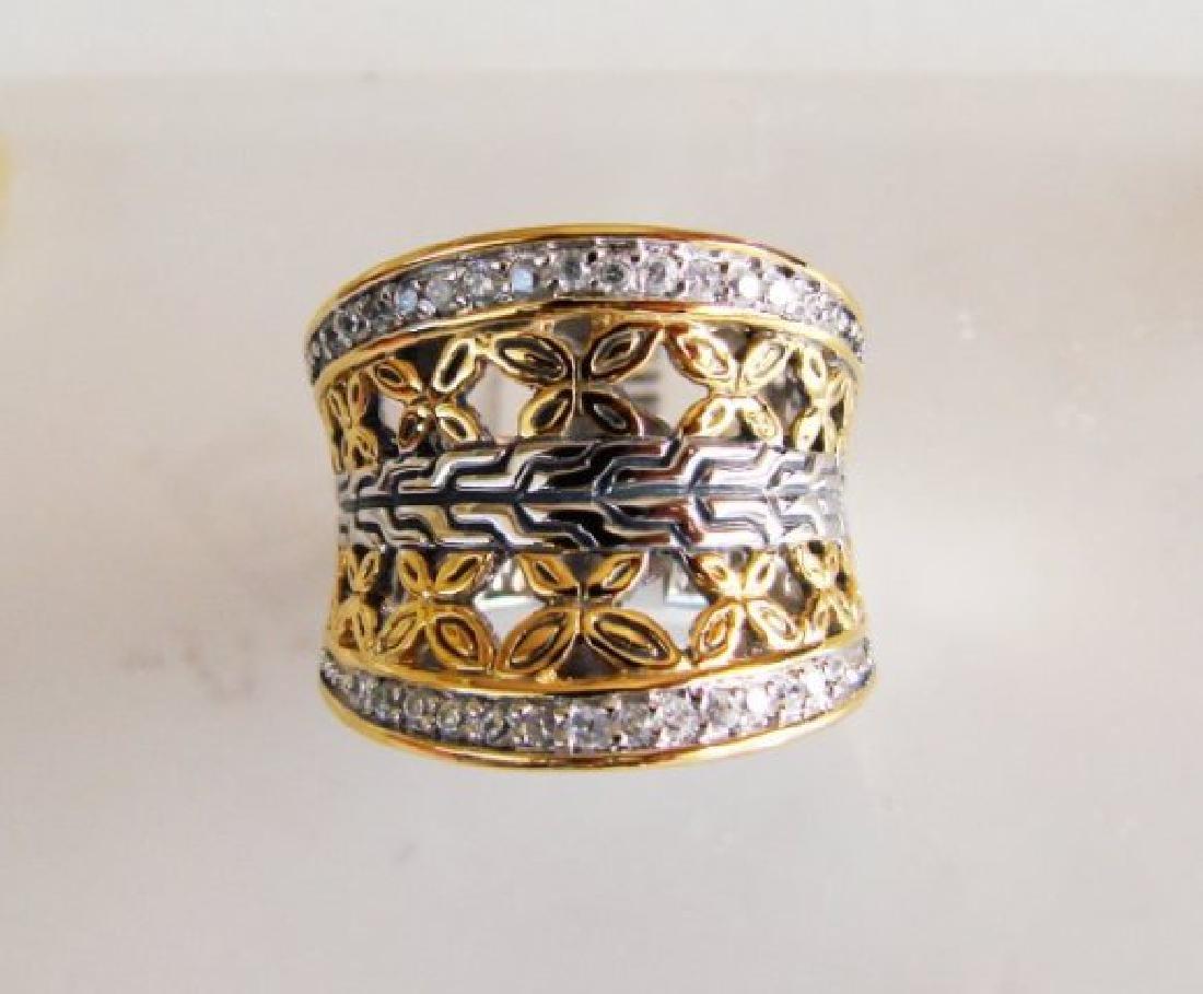 Creation Diamonds Ring .50Ct 18k W-Y/g Overlay