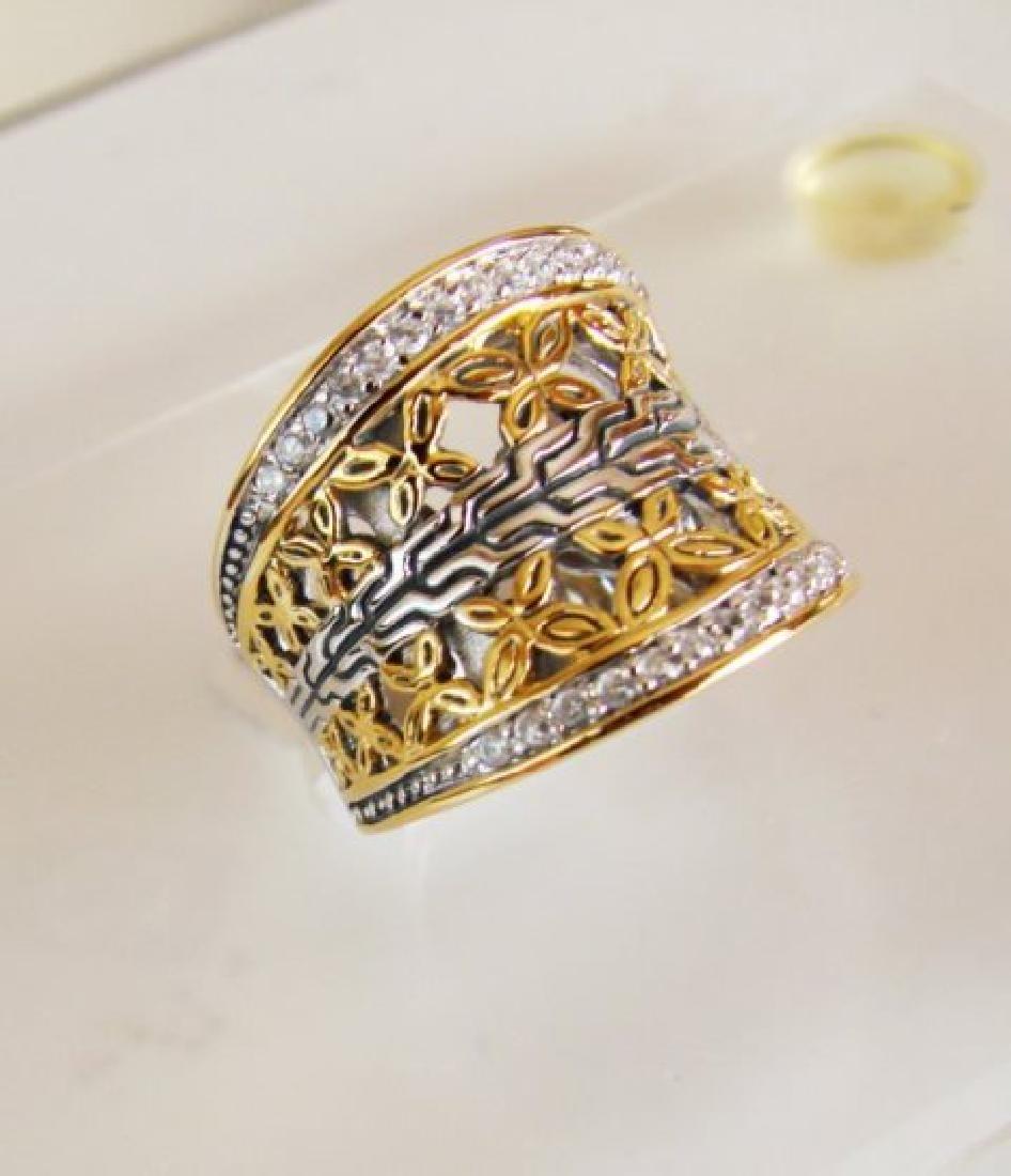 Creation Diamonds Ring .50Ct 18k W-Y/g Overlay - 2