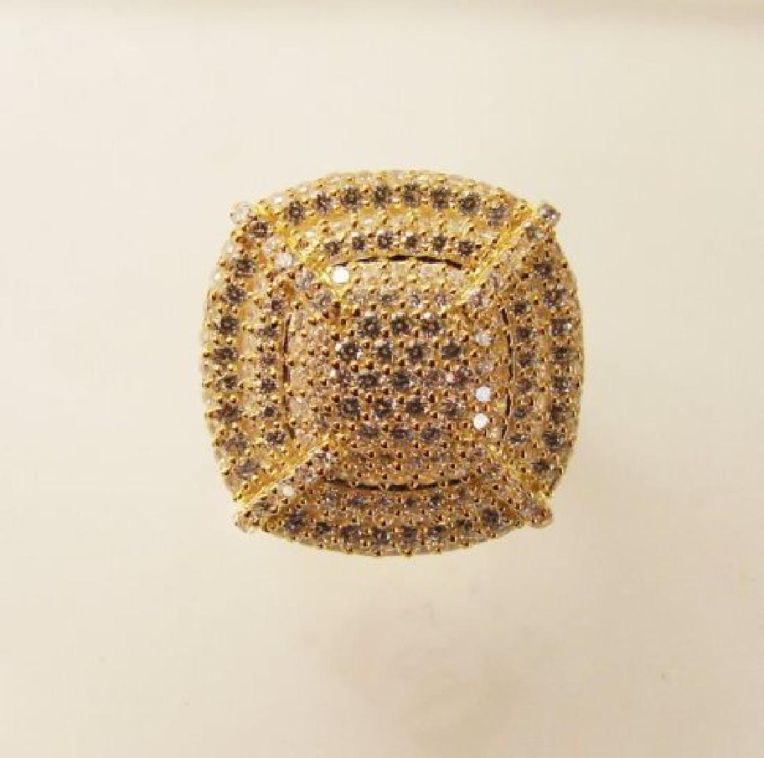 Creation Diamonds Ring 1.20Ct 18k Y/g Overlay