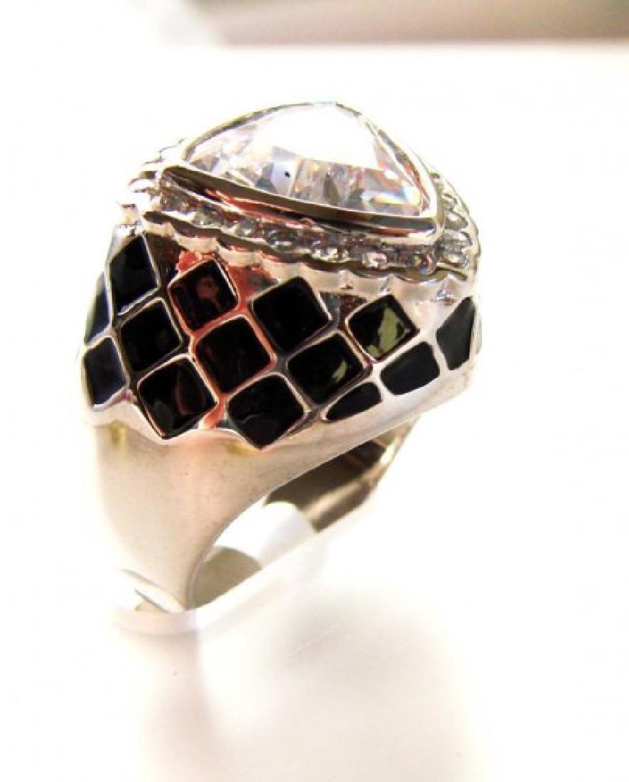 Creation Diamonds Ring 4.30Ct 18k W-B/g Overlay - 2