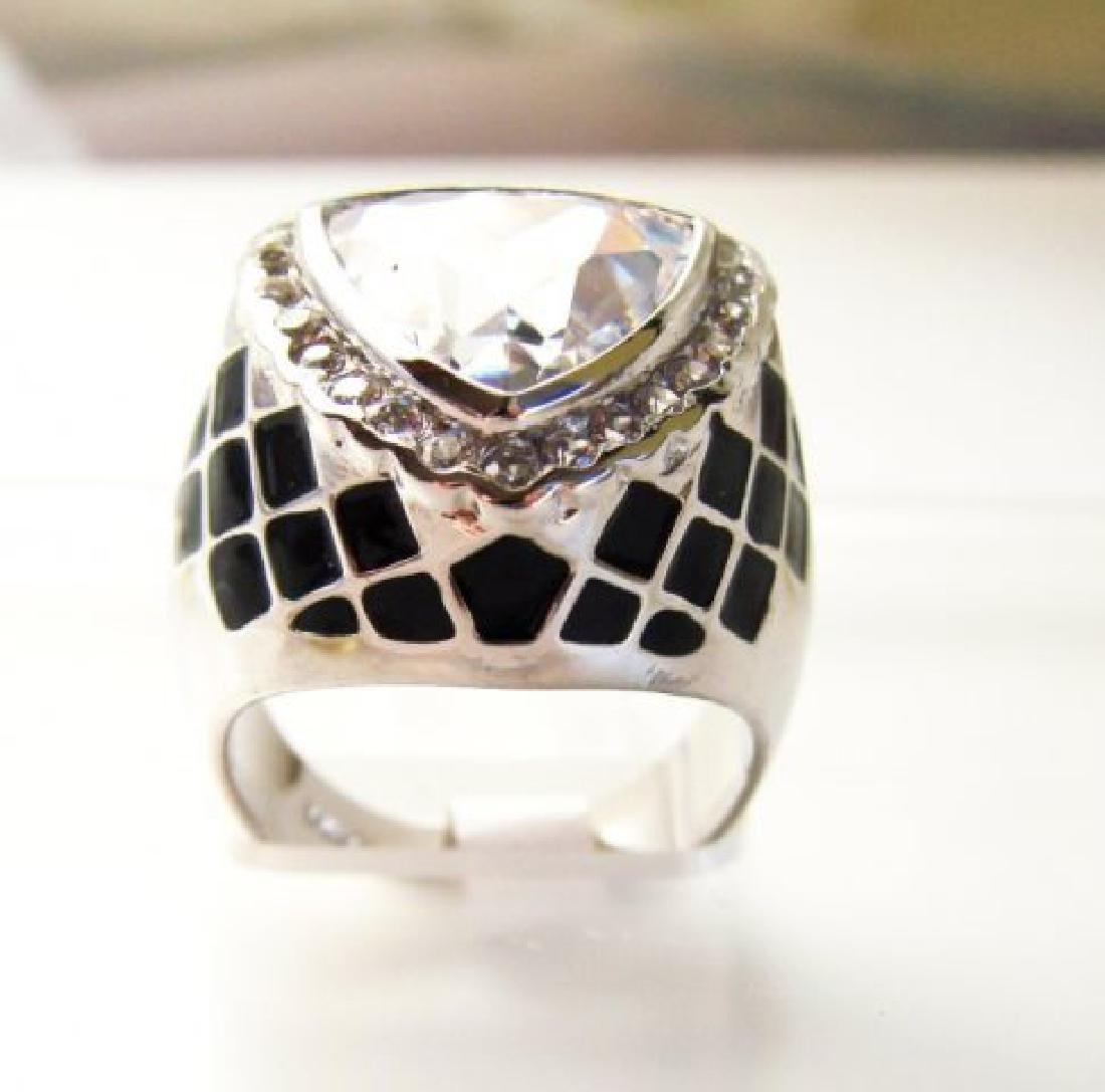 Creation Diamonds Ring 4.30Ct 18k W-B/g Overlay - 3