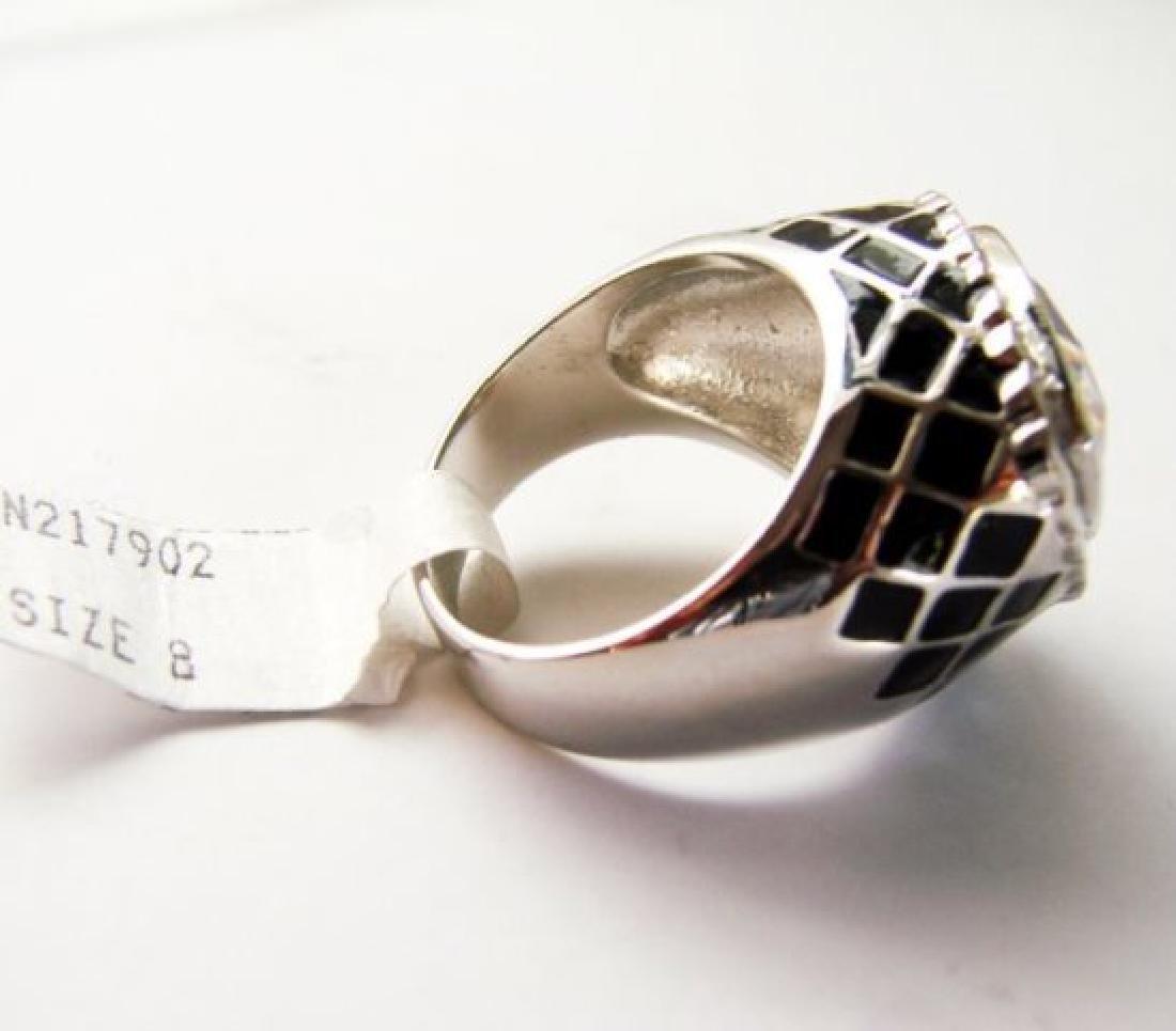 Creation Diamonds Ring 4.30Ct 18k W-B/g Overlay - 4