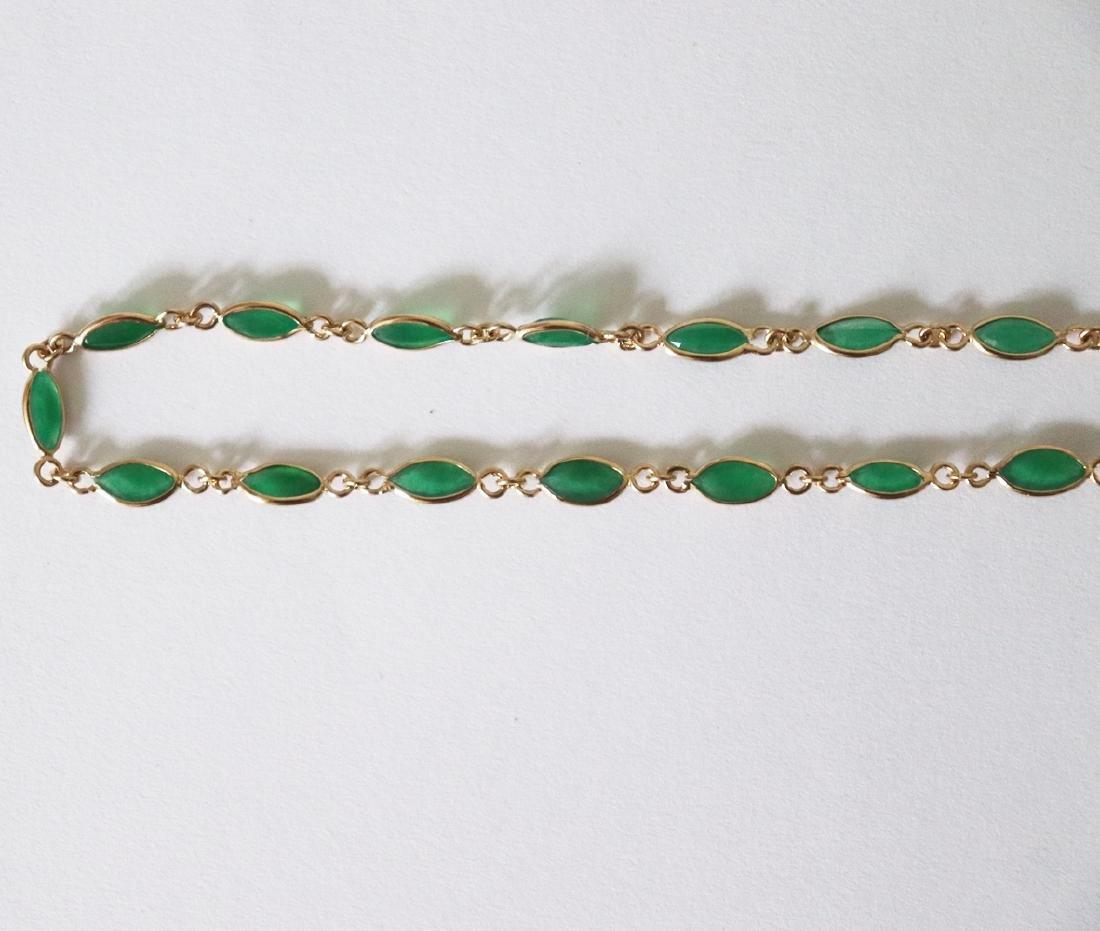 Jade Necklace 11.02Ct 14k Y/g - 4