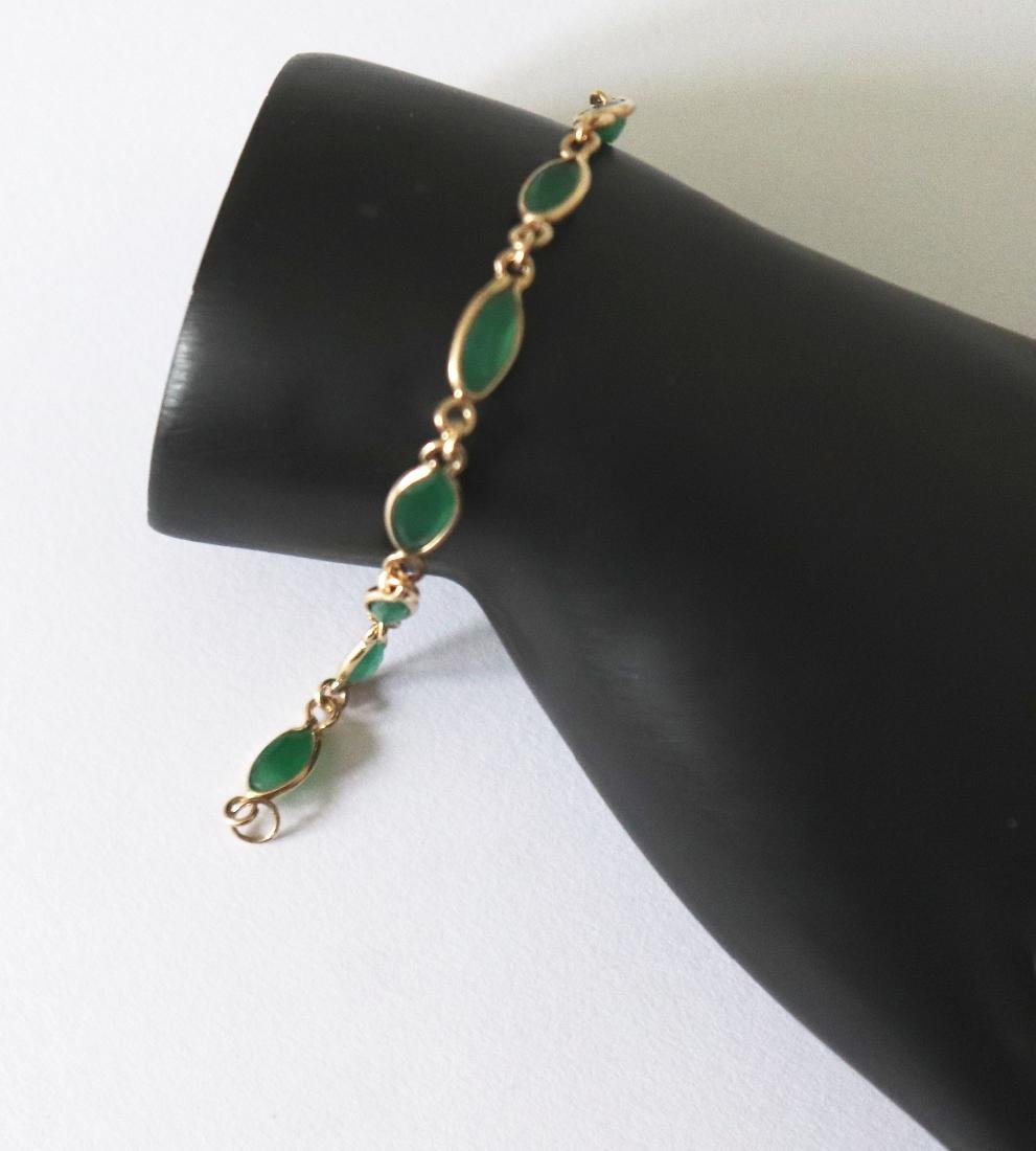 Jade Bracelet 3.42Ct 14k Y/g
