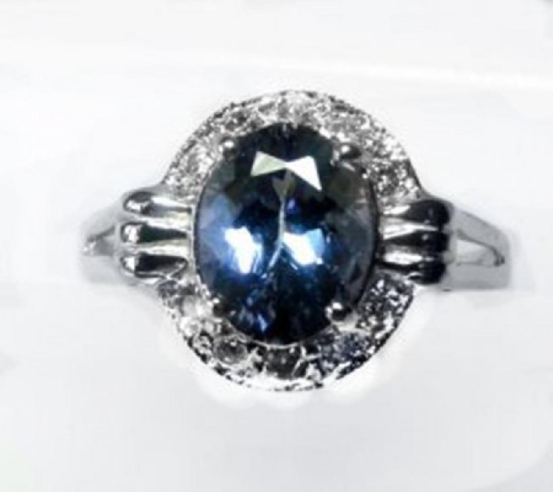 Anniversary Ring Tanzanite & Diamond 2.03CT 14 W/G