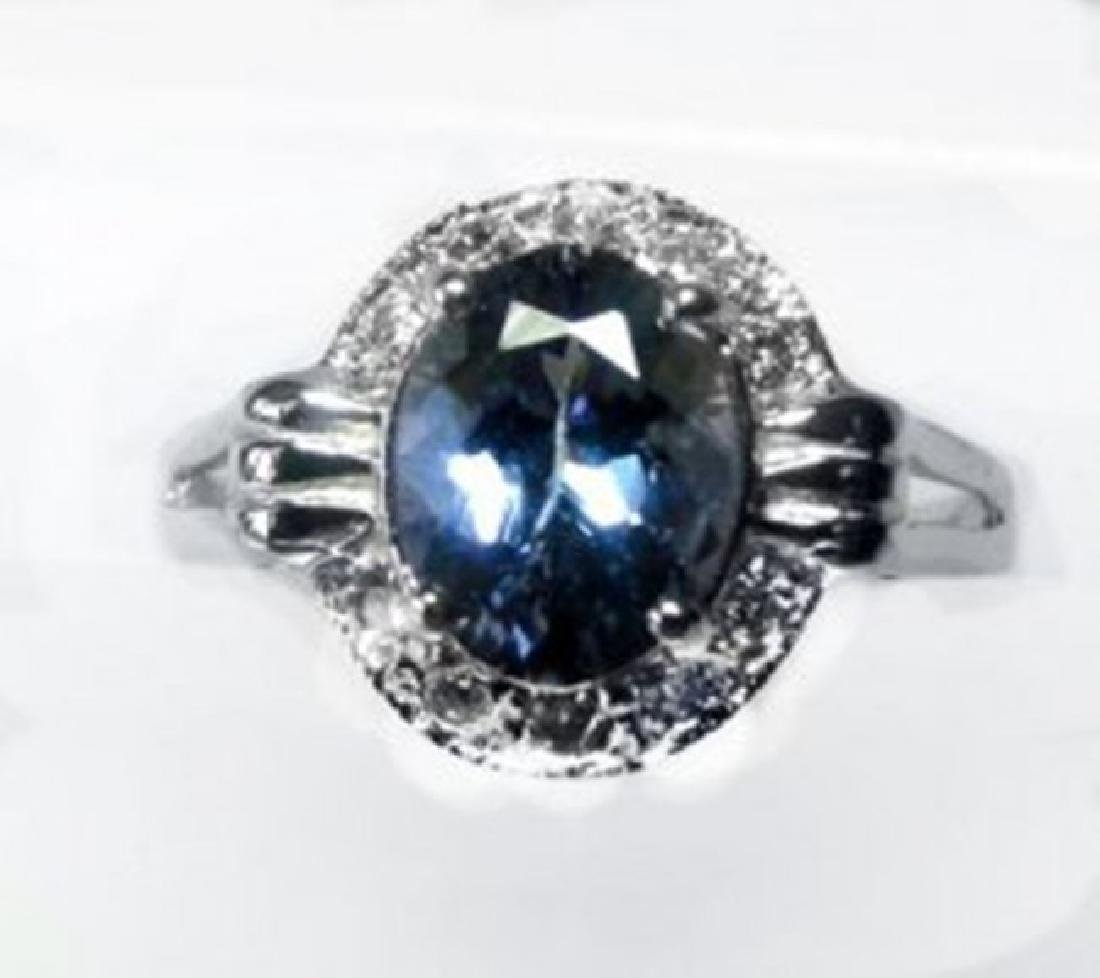 Anniversary Ring Tanzanite & Diamond 2.03CT 14 W/G