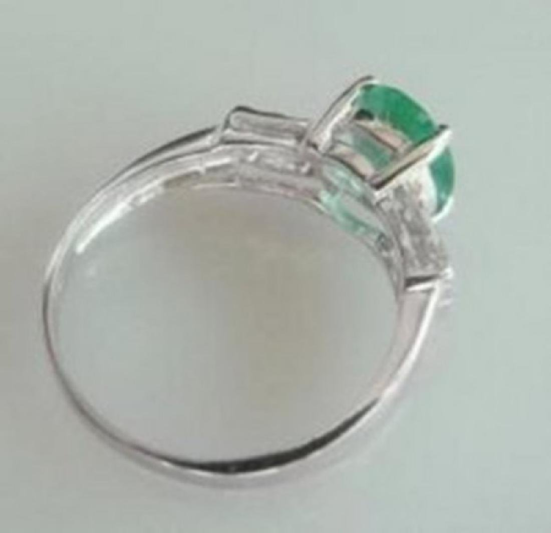 Ring Natural Columbia Emerald Diamond 1.92Ct 14k W/g - 3
