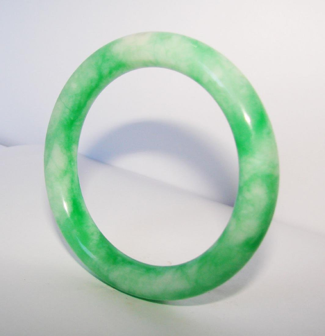 Natural Jade Bangle Grade A Inner Diameter :60mm - 2