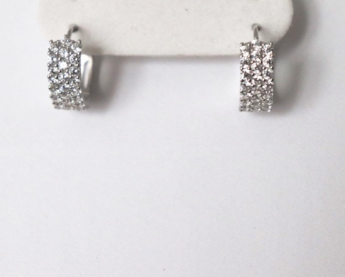 Creation Diamond Earrings 2.24Ct 18k W/G Overlay