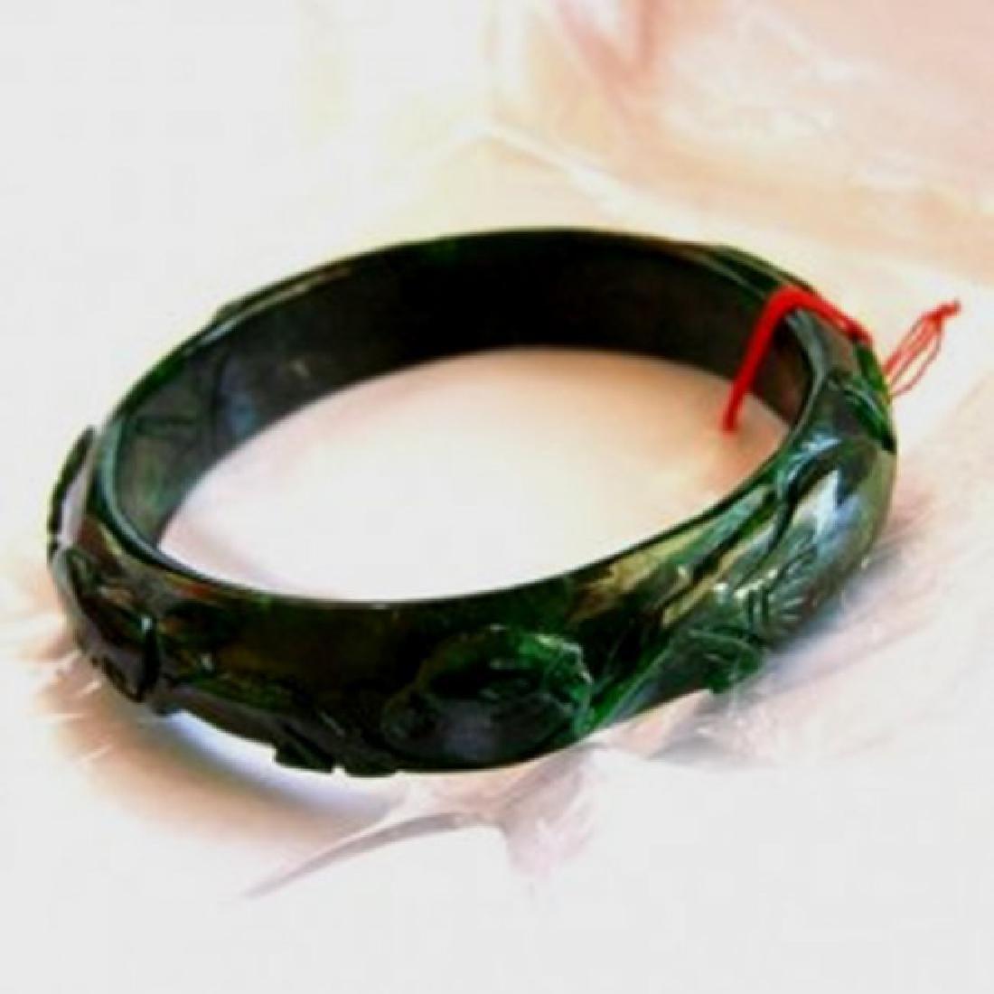 Natural Jade Bangle Grade A Inner Diameter :60mm - 2