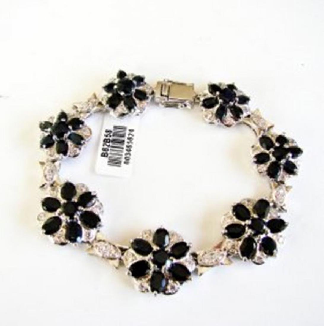Sapphire&Creation Diamond Bracelet 36.39Ct 18k W/g