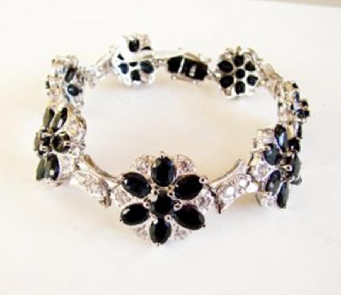 Sapphire&Creation Diamond Bracelet 36.39Ct 18k W/g - 2