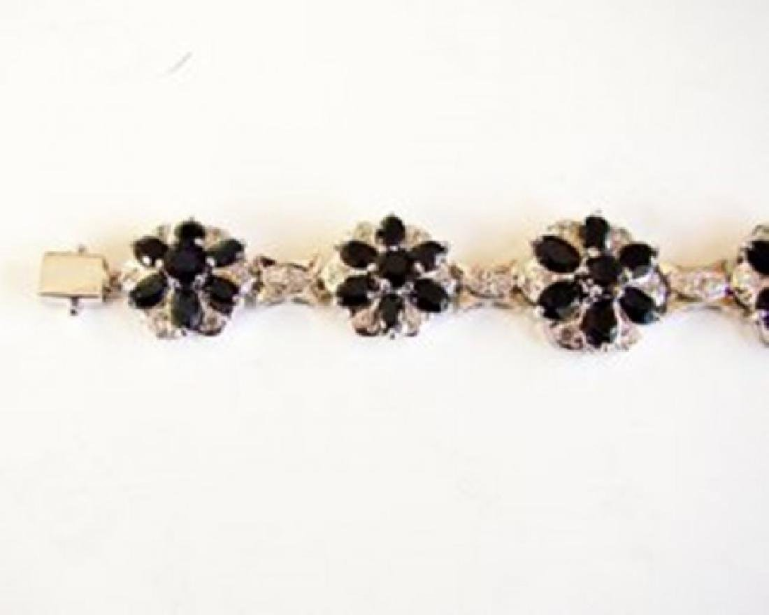 Sapphire&Creation Diamond Bracelet 36.39Ct 18k W/g - 3