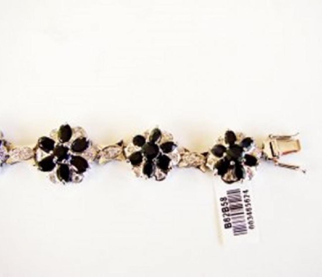 Sapphire&Creation Diamond Bracelet 36.39Ct 18k W/g - 4