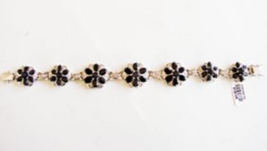 Sapphire&Creation Diamond Bracelet 36.39Ct 18k W/g - 5