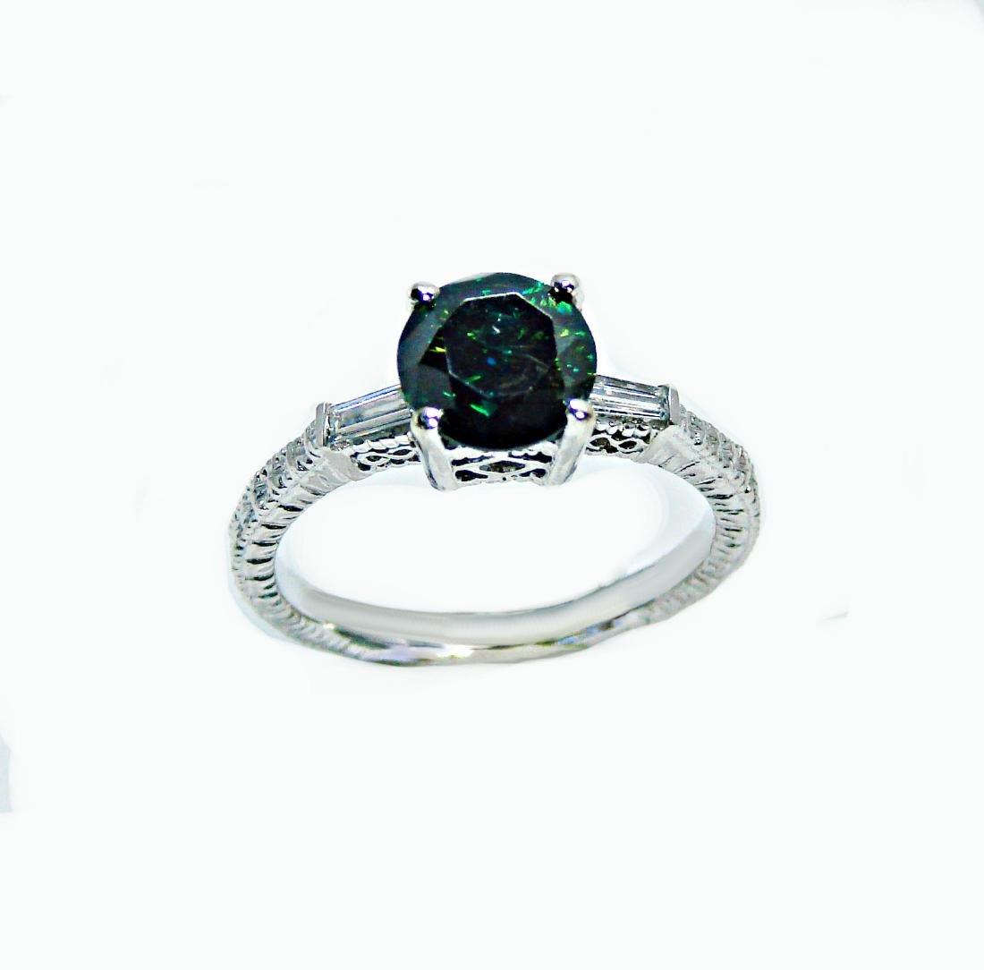 Enhanced Blue Diamond Ring 1.81 Carat 14k W/g