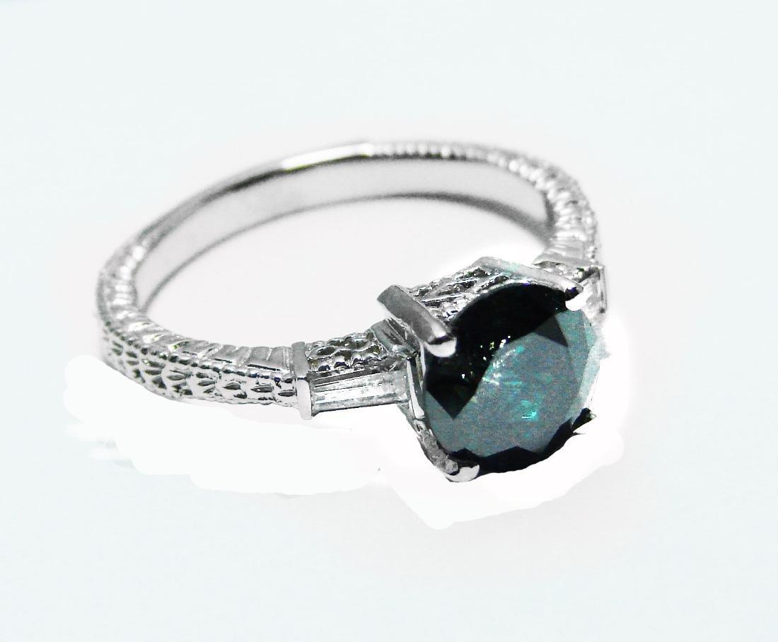 Enhanced Blue Diamond Ring 1.81 Carat 14k W/g - 2