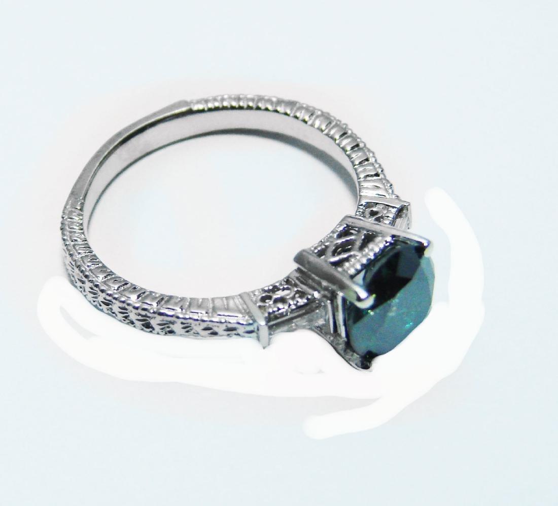 Enhanced Blue Diamond Ring 1.81 Carat 14k W/g - 3